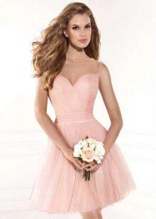 Rochie scurta roz magnifica