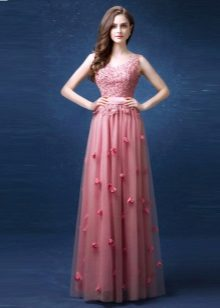 Rochie roz cu paiete