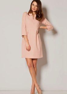 Casual rochie roz cu mâneci