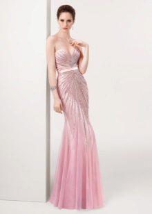 Roz rochie de seara