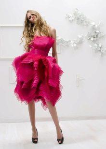 Fuchsia rochie scurt