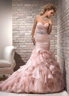 Roz rochie sirenă