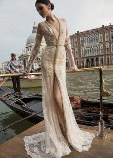 Flesh-colored dress