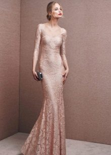 Flesh-colored dress from the La Sposa brand