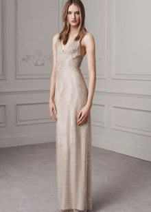 Flesh-colored dress for winter colors