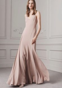 Flesh-colored dress is long