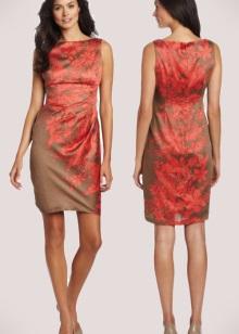 Terrakotta-mekko yhdessä ruskean sävyjen kanssa