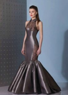 Mermaid dress na may American armhole