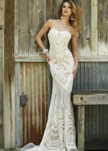 Vit klänning sjöjungfru