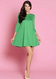 Zöld A-vonalú ruha