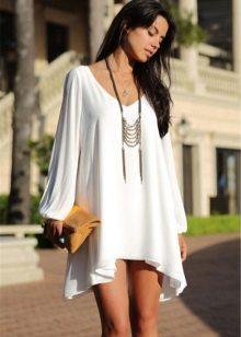 Fehér A-vonalú ruha
