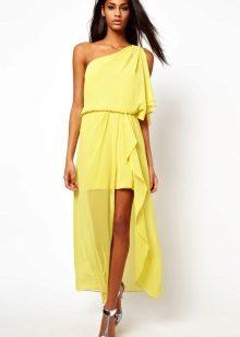 Grekisk klänning gul
