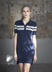 Polo dress blue