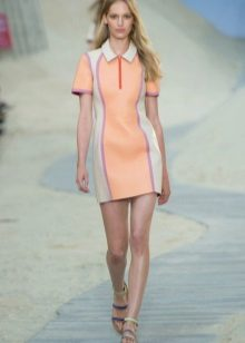 Peach Polo Dress