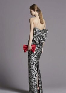 egyenes hátsó ruha