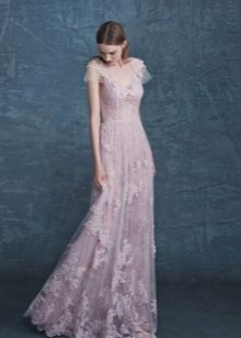 Flared spets klänning