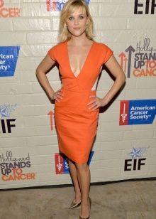 Oranssi mekko naisille väri tyyppi kesä
