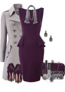 Violetti mekko ja asusteet hänelle värityypille Light Summer