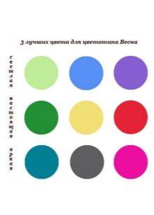 Palet warna sesuai untuk jenis warna musim bunga