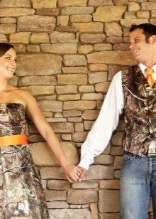 Düğün kamuflaj elbise