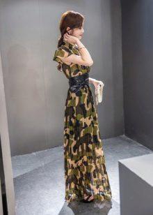 Uzun kamuflaj elbise