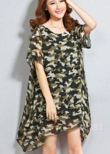 Küçük desenli kamuflaj elbise
