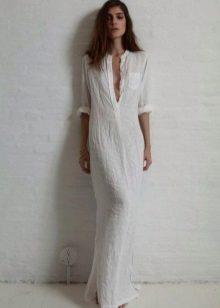 Pellava pitkä paita mekko