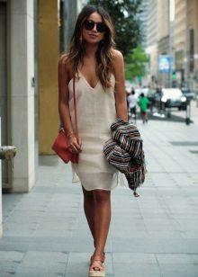Beige Linen mekko