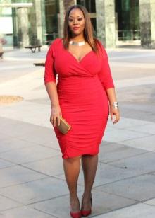 Funda de vestit vermell per a dones obeses