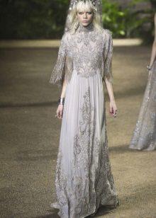 Elie Saab lente-zomer 2016 gefranjerde jurk