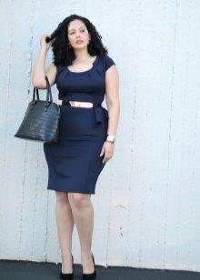 Bossa amb vestit de color blau per a oficina completa