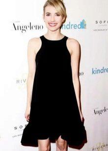 שחור A- קו השמלה עם זרוע אמריקאית