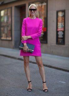 Roze A-lijn jurk