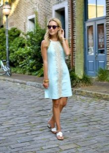 Turquoise A-line Dress