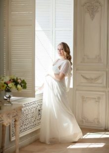 Witte jurk voor fotoshoots