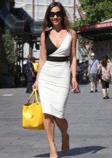 Sheath dress with a deep neckline