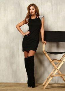 Short black sheath dress