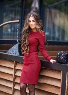 Sheath dress with long sleeves