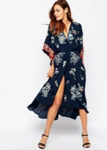 Kimono-jurk sandalen