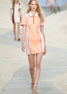 שמלת פולו קצרה רוכסן