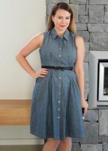 Homemade Gray Shirt Dress