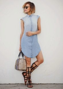 Fitted Sleeveless Shirt Dress