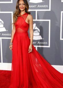 Punainen amerikkalainen sifonki mekko