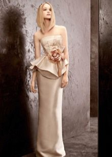 Combat wedding dress with basky