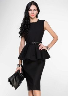 Dress with basky for broad-shouldered girls