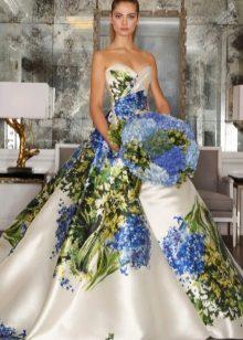Modig färgglad klänning med korsett