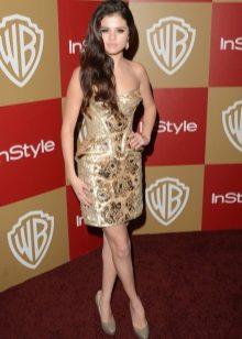 Kort klänning med Selena Gomez korsett