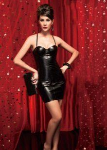 Svart sexig klänning med korsett