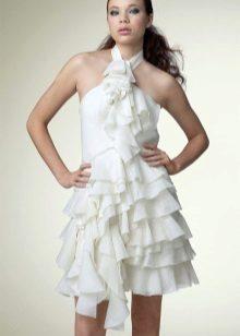 Gaun chiffon dengan pakaian dalam dada dan skirt