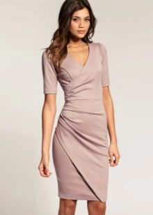 Short sleeve lilac wrap dress